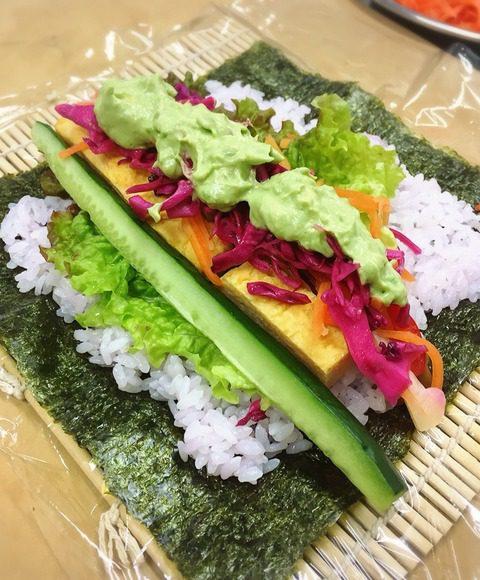 幸せ野菜ランチ_恵方巻