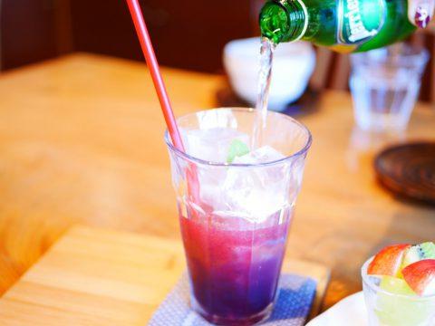 ブルーベリー酢のソーダ割