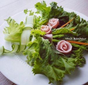 レタスのブーケサラダ