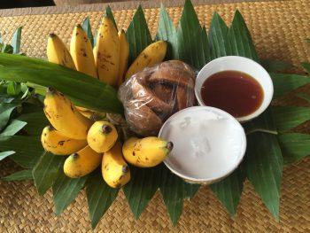 バナナのデザート