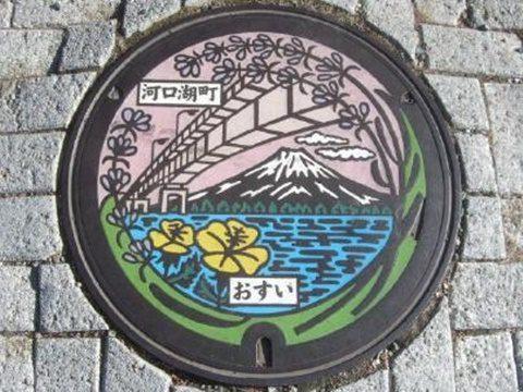 富士山マンホール