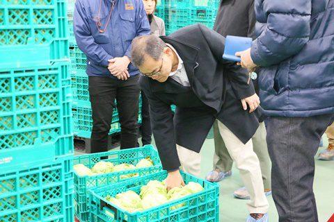 野菜くらぶ/まつの新センターご視察/提携産地レポート更新