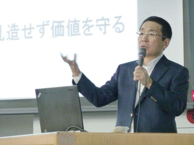 中央大学にて松野社長が講演を行いました
