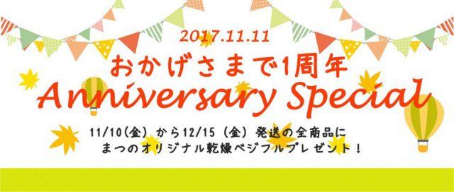 【1周年キャンペーン】まつのオリジナル乾燥べジフル全員プレゼント(まつのベジタブルガーデン)