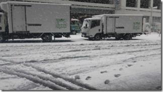雪の日に商品が届かない