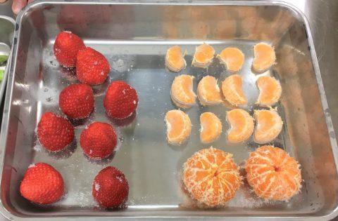 イチゴとミカン冷凍