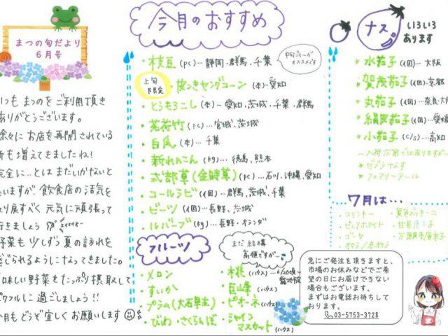 【6月】今月のおすすめアイテム