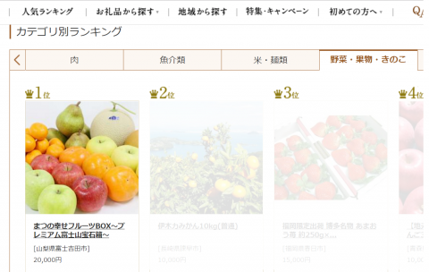 1位を獲得!まつの幸せフルーツBOX ~プレミアム富士山宝石箱~