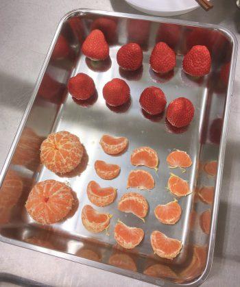 イチゴとミカン冷凍前