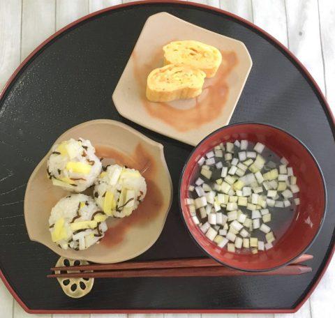 黄ニラで朝ご飯