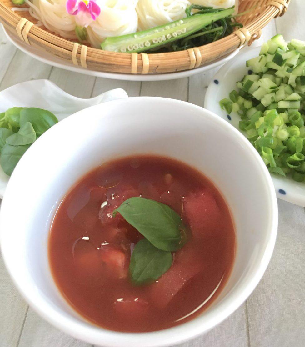 トマトのサラダだれ 野菜ジュース バジル オリーブオイル