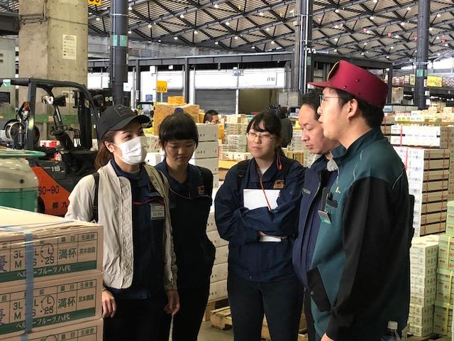 【新入社員研修】大田市場見学で青果物流通を学ぶ