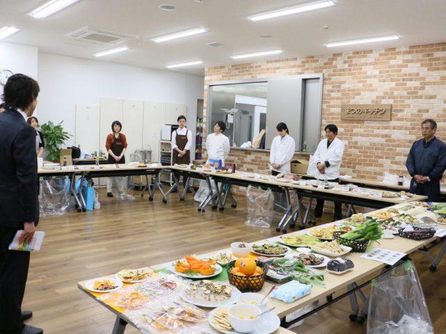 【提案会開催】まつのキッチンにて、生鮮三品(精肉・鮮魚・青果)およびグロッサリー等のベンダー合同提案会が行われました