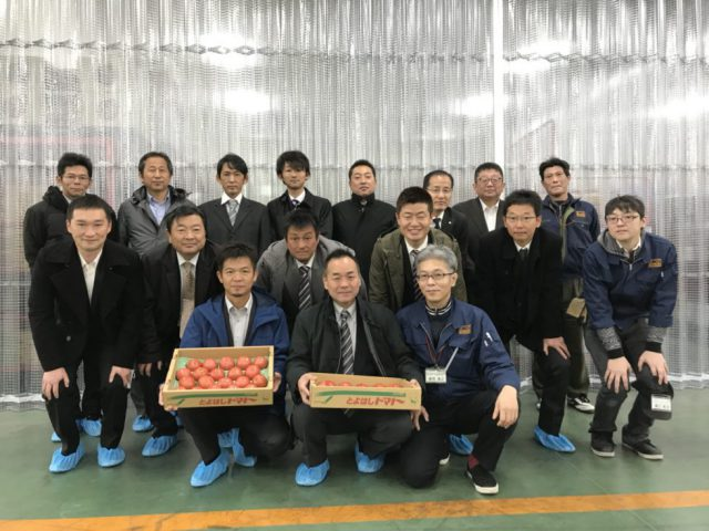 JA豊橋トマト部会 まつの新センターご視察