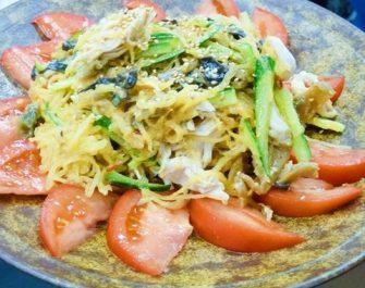 金糸瓜の中華風サラダ